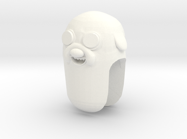 Custom Jake The Dog Inspired for Lego in White Processed Versatile Plastic
