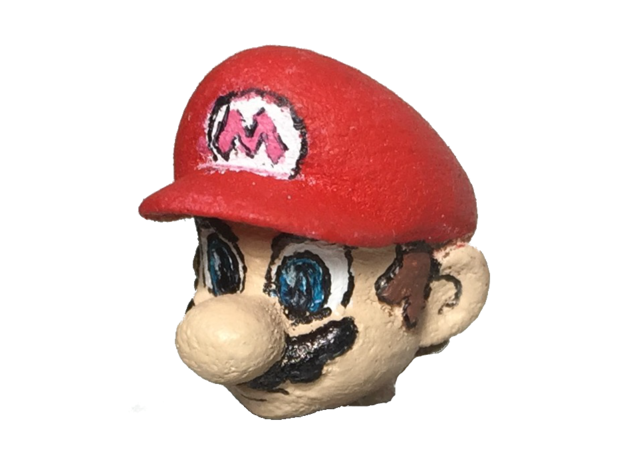 Custom Mario Inspired Head for Lego