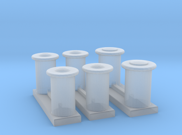 Titanic Bollards in Smooth Fine Detail Plastic