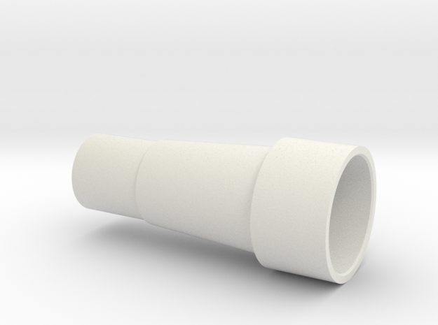 Exhaust Port Coupler Am6 in White Natural Versatile Plastic