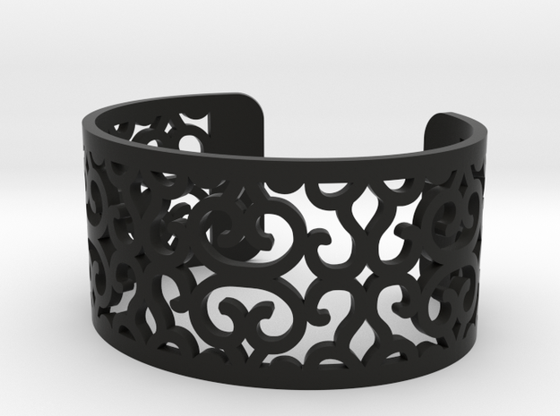 Arabesque perforated bracelet in Black Natural Versatile Plastic