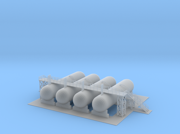 Propane Facility 2 Z Scale in Smooth Fine Detail Plastic