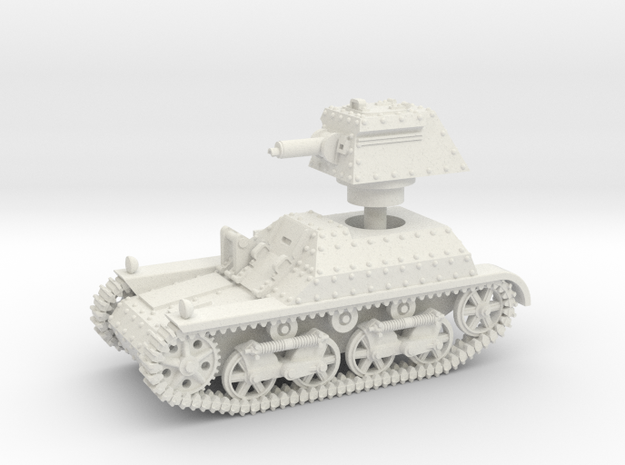 Vickers Light Tank Mk.IIa (15mm) in White Natural Versatile Plastic