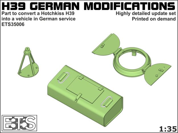 ETS35006 Hotchkiss H39 German modifications in Smooth Fine Detail Plastic