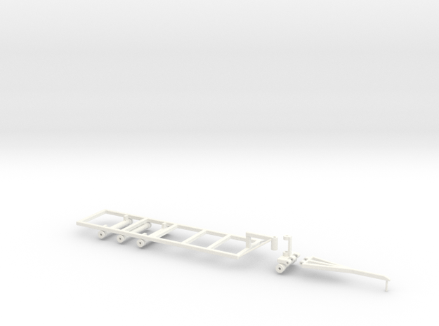 Befort 1/64 scale double header frame in White Strong & Flexible Polished