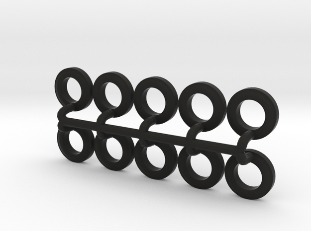 10 Tires for the Befort Double Header trailer in Black Natural Versatile Plastic