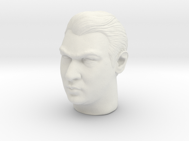 Ronnie Kray headsculpt in White Strong & Flexible