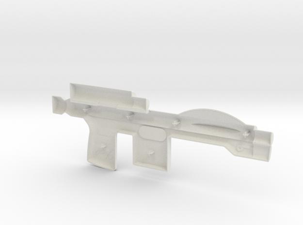 Trooper Blaster Full Size - (Left Half Only) in White Strong & Flexible