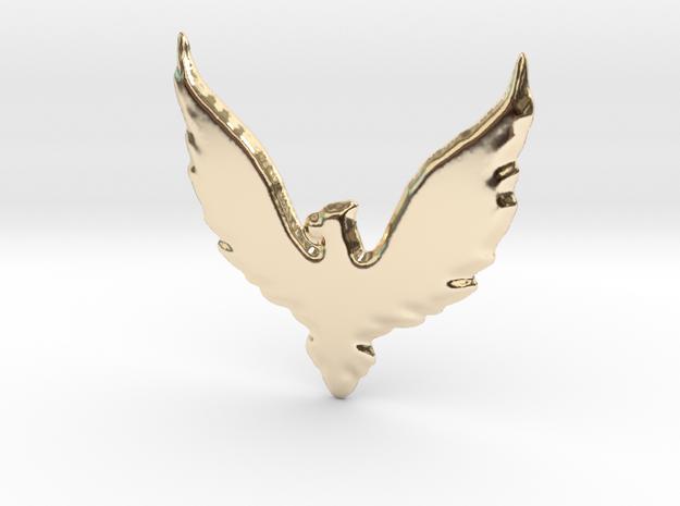 Hawk insignia keychain. in 14K Gold