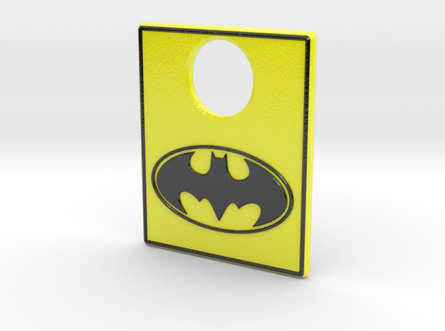 Pinball Plunger Plate - Classic Batman in Glossy Full Color Sandstone