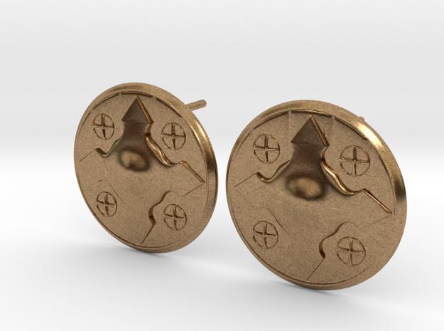 Wotan Cross Earring in Raw Brass