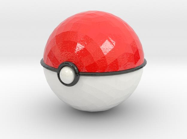 Pokeball (big) in Coated Full Color Sandstone