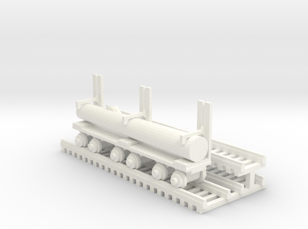 Log Mover+Log - HO 87:1 Scale in White Processed Versatile Plastic