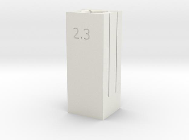 6/8 Tube Cutter 2.3/2.4 Dual Depth in White Natural Versatile Plastic