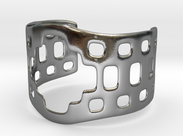 Aztec bracelet in Polished Silver