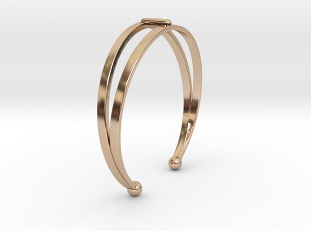 Ø53 Mm Bracelet Elegance Ø2.086 inch XS in 14k Rose Gold Plated