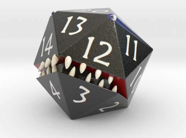 D20 Black Monster Figurine 3d printed