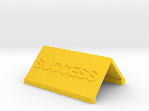 Motivational Novelties in Yellow Processed Versatile Plastic