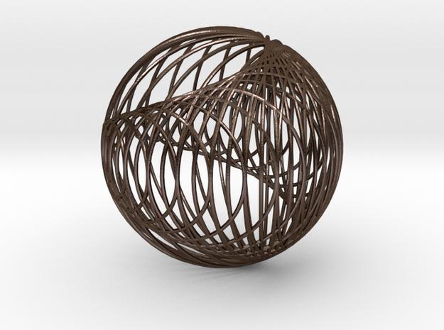 Cardioid Sphere 1 in Polished Bronze Steel