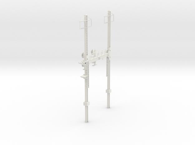 Custom HO Scale PRR W--signal Beam 2 Track  W 2 PH in White Natural Versatile Plastic