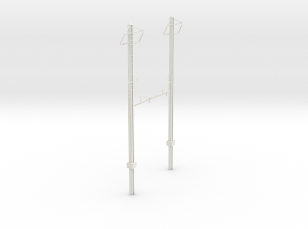 CUSTOM PRR CATENARY HO SCALE 2TRK CURVED STEADY 2  in White Natural Versatile Plastic