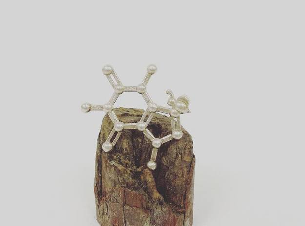 {pendant} Caffeine & Chocolate & Bee in Natural Silver