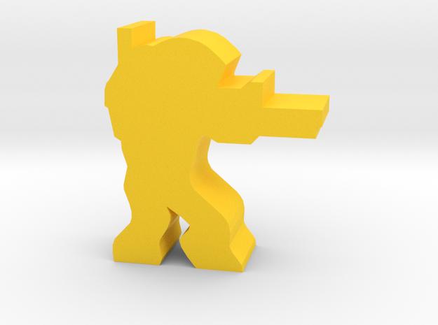 Game Piece, Machine Rebel Sniper in Yellow Processed Versatile Plastic