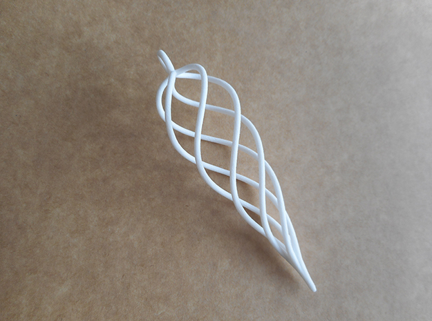 Wireframe Icicle Christmas Decoration in White Strong & Flexible Polished