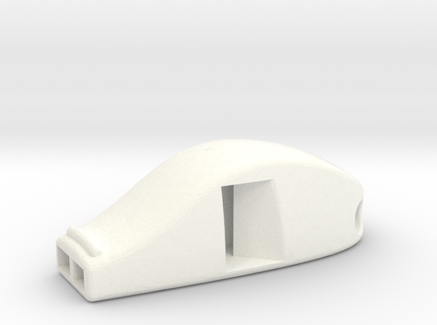 VERY LOUD! Functional Whistle in White Strong & Flexible Polished