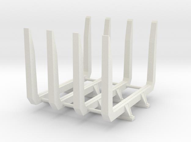 1/16 Short logger log bunks in White Natural Versatile Plastic