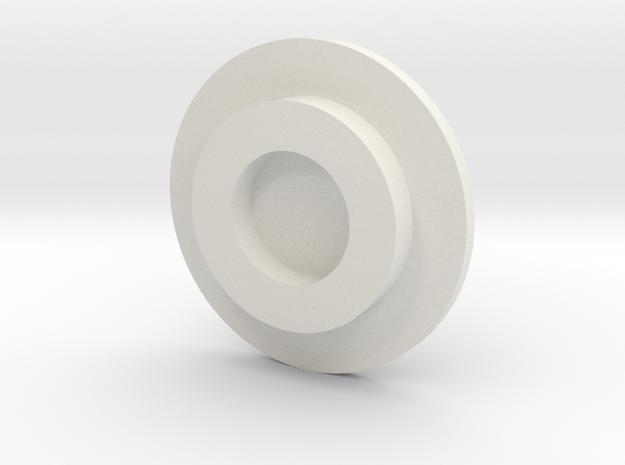 IS / ISU roller Hubcap 1/16  in White Natural Versatile Plastic