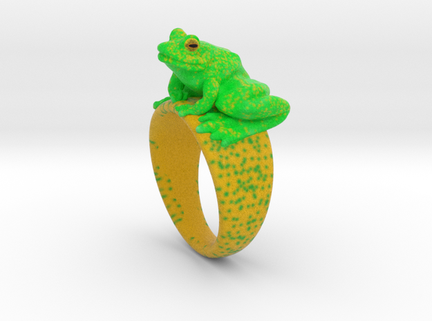 Frog Ring (size 7) in Full Color Sandstone