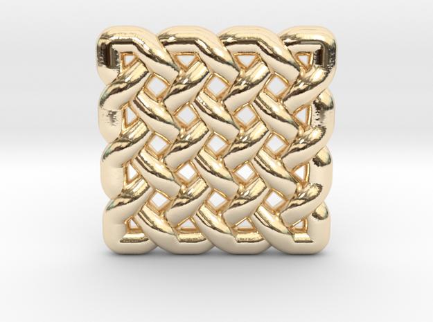 0509 Celtic Knotting - Regular Grid [4,4] in 14k Gold Plated Brass