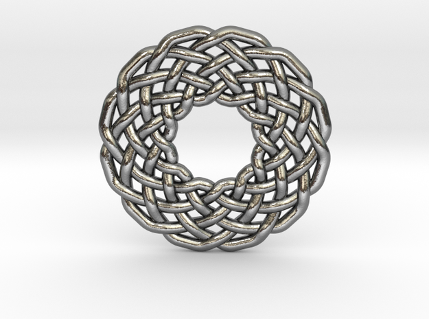 0510 Celtic Knotting - Circular Grid [12,3] in Polished Silver