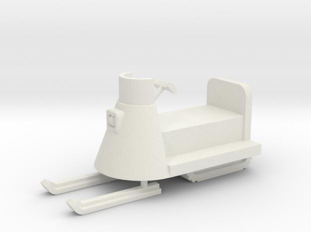 Snowmobile - HO 87:1 Scale in White Natural Versatile Plastic