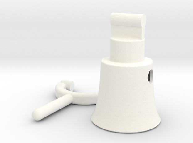 Megaphone 2 in White Processed Versatile Plastic
