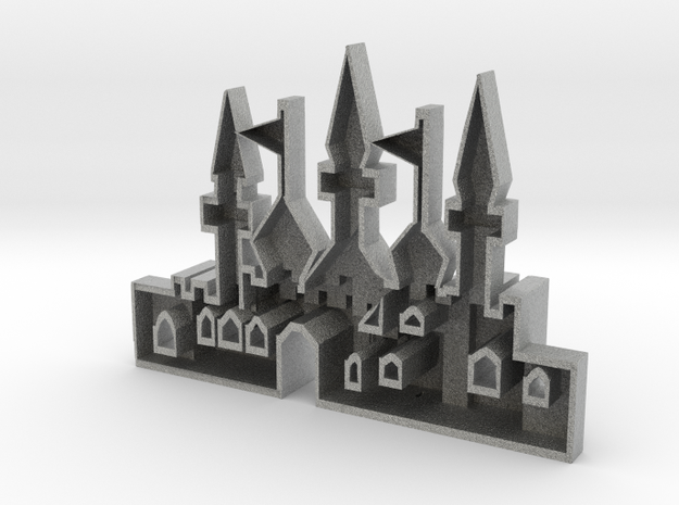 mold of an oriantal city in Metallic Plastic