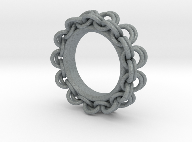 Chainmail Ring Pendant in Polished Metallic Plastic