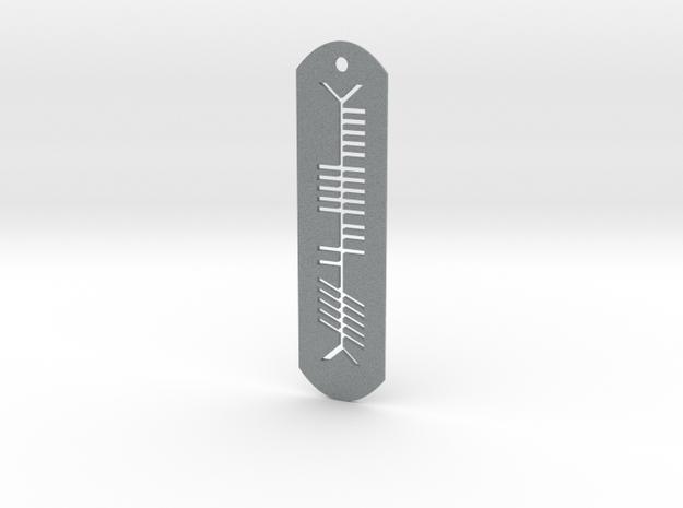 Ogham - Thin Pendant 3d printed