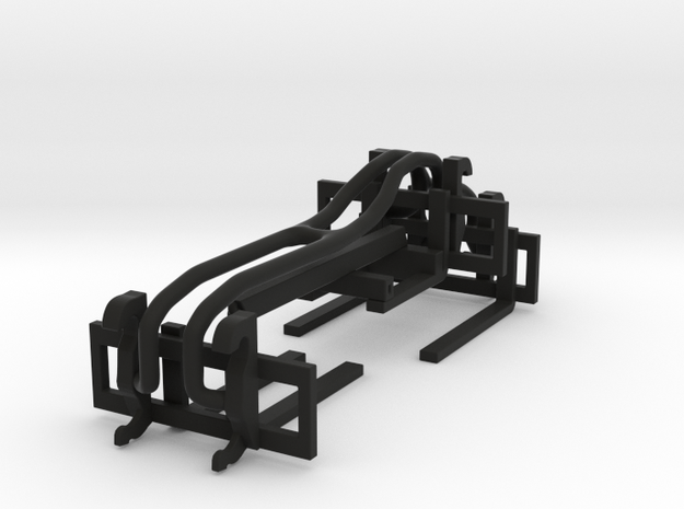 1/64 Wheel Loader Pallet Fork and Boom Attachments in Black Natural Versatile Plastic