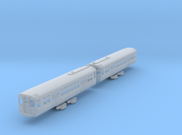 N Scale CTA 6000 Series (Modernized, w/Roofboards) in Smooth Fine Detail Plastic