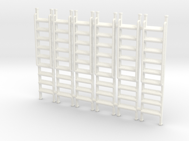 Ladder 01. O Scale (1:43) in White Processed Versatile Plastic