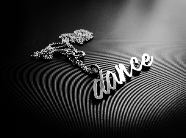 Dance Pendant-DANCE in Polished Silver