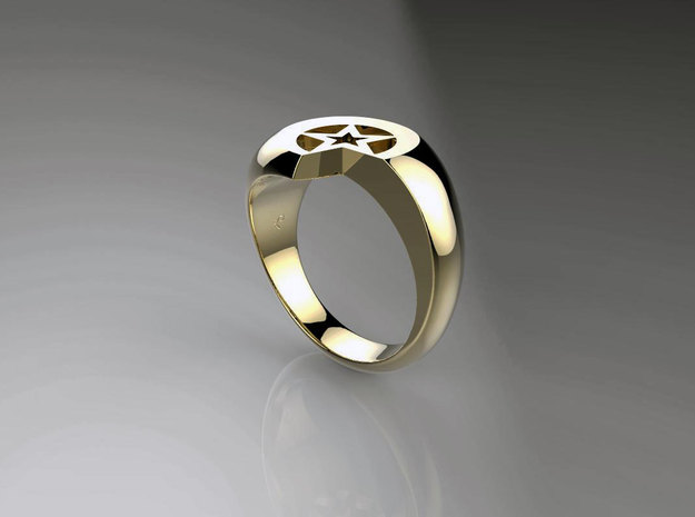 Start and Moon  in 14k Gold Plated Brass