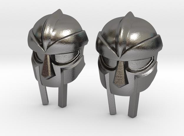 MF Doom Mask Lacelock in Polished Nickel Steel