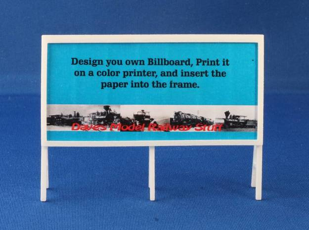 Billboard Frame HO Scale-Pole mounted 03 3d printed