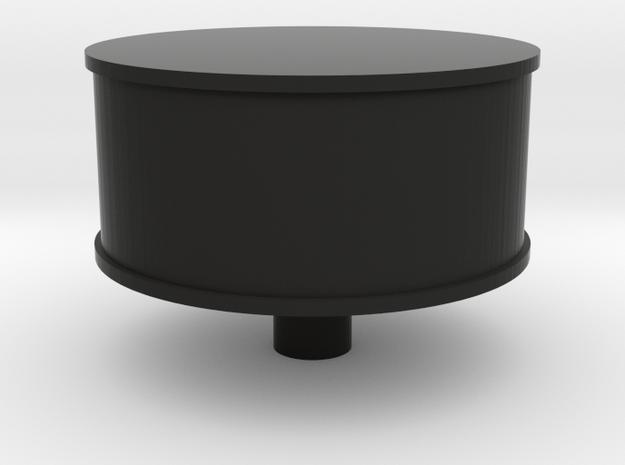 Heart Amulet Big - Ring Insert for Ring52 (16.5mm) in Black Natural Versatile Plastic