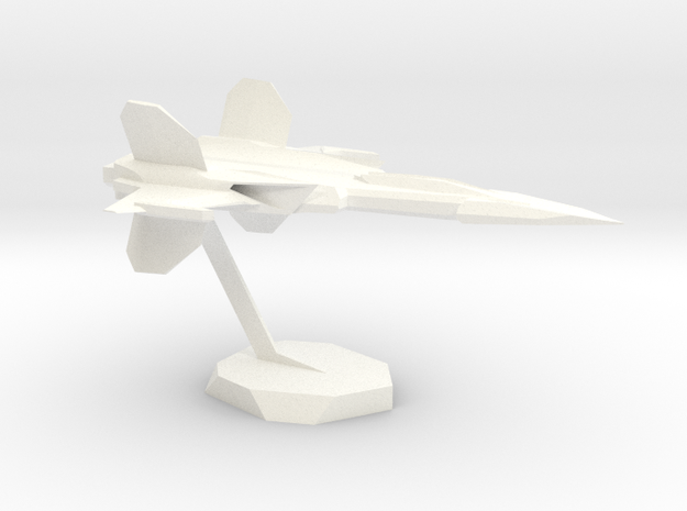 BlasterSpaceJet in White Strong & Flexible Polished