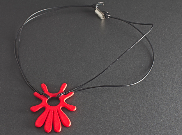 Summer 's here (pendant) in Red Processed Versatile Plastic
