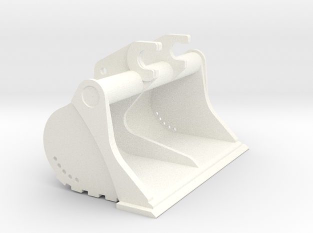CAT 336 E Ditch1 in White Strong & Flexible Polished